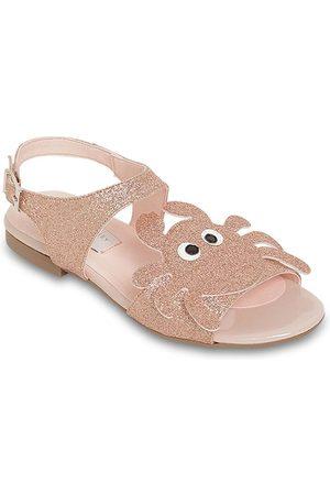 Stella McCartney Sandalias De Piel Sintética Con Glitter