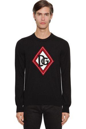 Dolce & Gabbana Suéter De Punto De Cashmere Con Intarsia