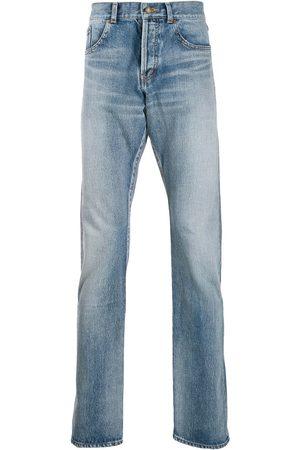 Saint Laurent Jeans rectos con efecto lavado