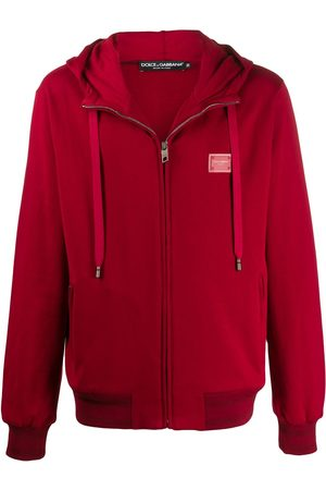 Dolce & Gabbana Chest logo zipped hoodie