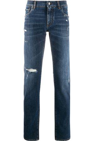 Dolce & Gabbana Hombre Skinny - Distressed slim jeans
