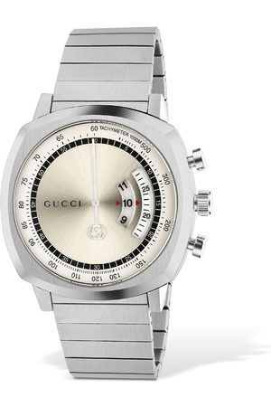 "Gucci Reloj "" Grip"" De Acero Inoxidable Lg40"