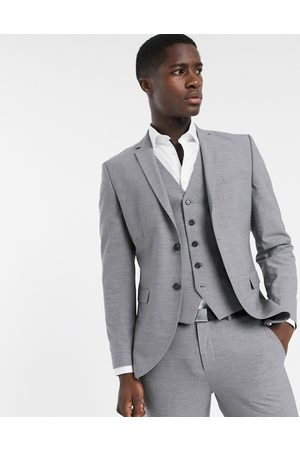 Selected Skinny fit suit jacket in grey