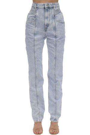 Isabel Marant Jeans De Denim De Algodón Con Cintura Alta