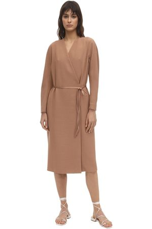 Agnona Belted Wool Blend Dust Coat