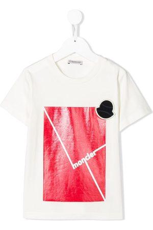 Moncler Camiseta con cuello redondo y logo estampado