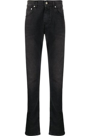 Alexander McQueen Dragon patch slim-fit jeans