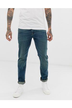 ASOS Stretch slim jeans in vintage dark wash blue
