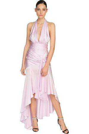 ALEXANDRE VAUTHIER Mujer Maxi - Draped Stretch Satin Long Dress