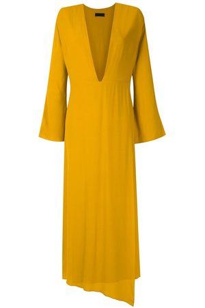 OSKLEN Mujer Maxi - Vestido largo Ouro con escote