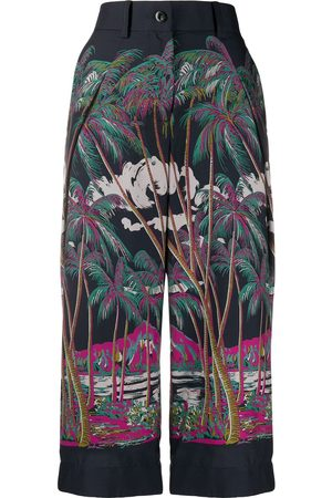 SACAI Beach print cropped trousers