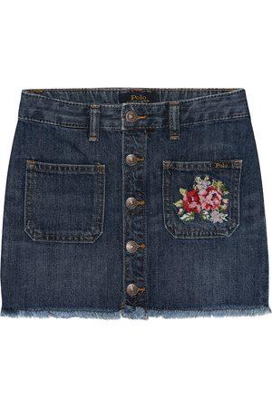 Ralph Lauren Mujer De mezclilla - Embroidered denim skirt