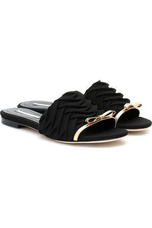 MARCO DE VINCENZO Leather-trimmed sandals