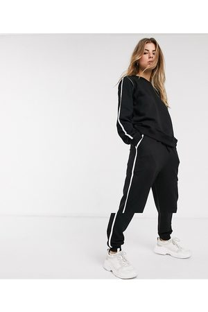 ASOS Tracksuit sweat / basic jogger with tie with contrast binding in organic cotton