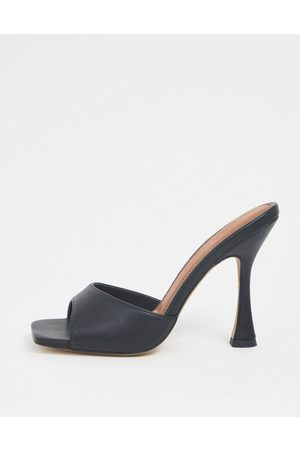 ASOS Mujer Zuecos - Nero square toe mules in black