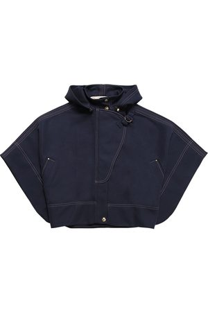 Chloé Niña Ponchos y capas - Hooded Cotton Blend Cape