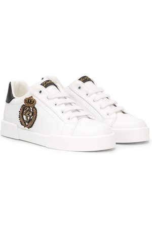 Dolce & Gabbana Patch-embellished sneakers