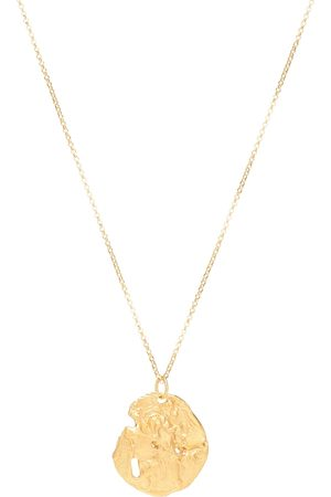 Alighieri St. Christopher 24kt -plated necklace