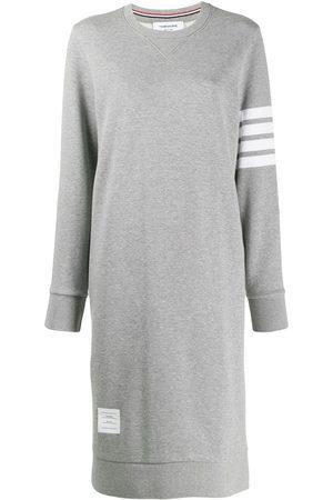 Thom Browne Vestido estilo sudadera con detalle de cuatro rayas