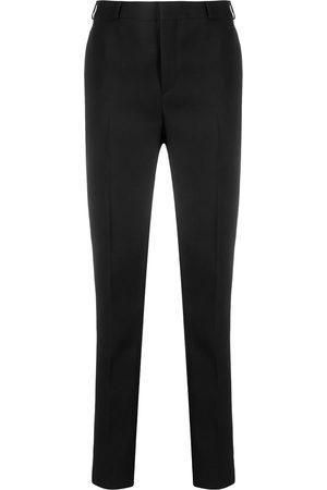 Saint Laurent Pantalones de vestir con tiro alto