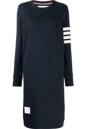 Thom Browne Vestido midi estilo suéter con detalle de rayas
