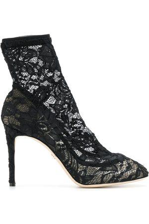 Dolce & Gabbana Mujer Botines - Botines con diseño de encaje