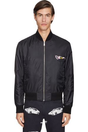 VERSACE Reversible Printed Nylon Bomber Jacket