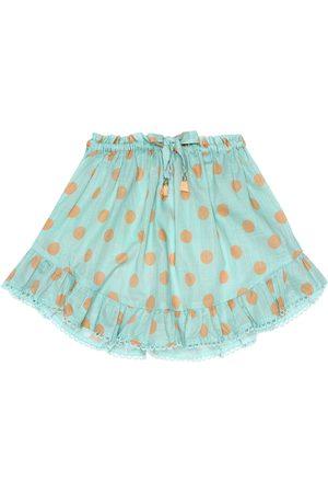 ZIMMERMANN Kirra polka-dot cotton skirt