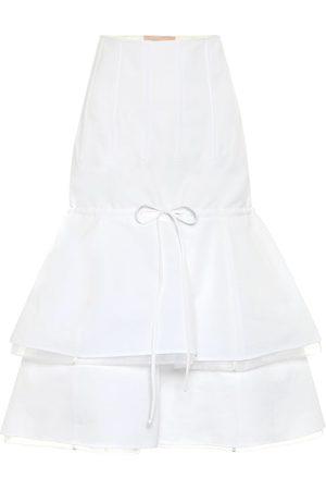 BROCK COLLECTION Cotton and linen midi skirt