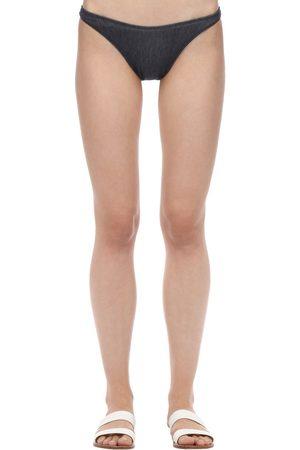 Solid Braguitas De Bikini De Denim