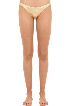 Solid Braguitas De Bikini Metalizadas