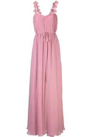 Marchesa Notte Vestido largo con bordado floral