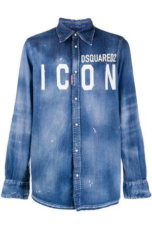 Dsquared2 Camisa de mezclilla con logo ICON