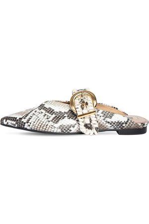 Reike Nen Zapatos Mules De Piel Estampado Pitón 10mm