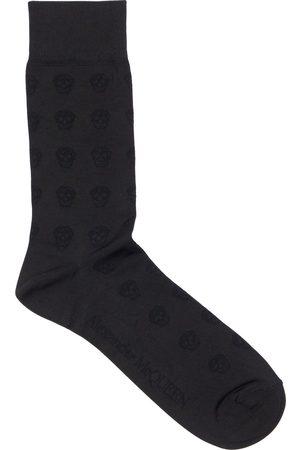 Alexander McQueen Skull Silk Stretch Jacquard Socks