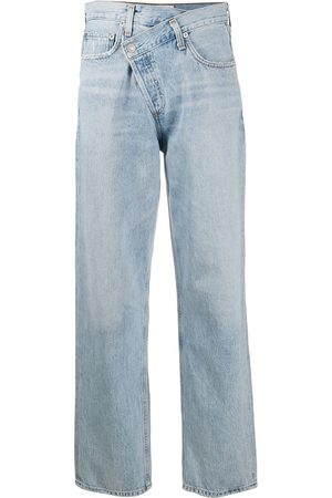 AGOLDE Jeans rectos con tiro medio