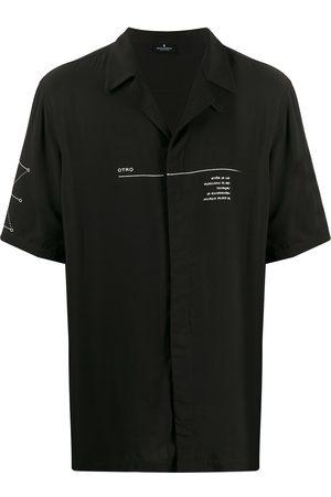 Marcelo Burlon County Of Milan Camisa con estampado de letras y geométrico