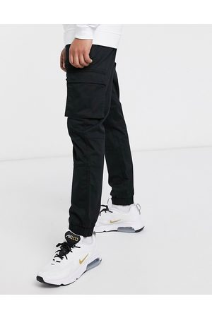 Only & Sons Slim fit cargo with cuffed bottom in black