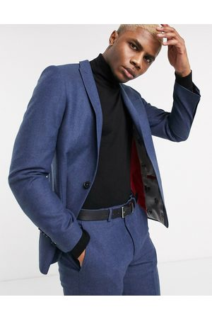 Twisted Tailor Tweed suit jacket in navy