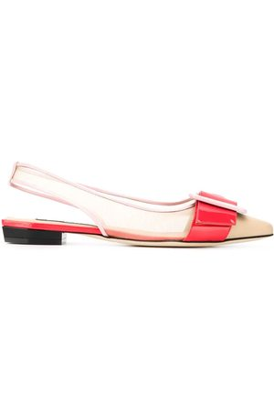 Sergio Rossi Colour-block ballerina shoes