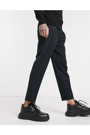 ASOS Smart tapered trousers in black
