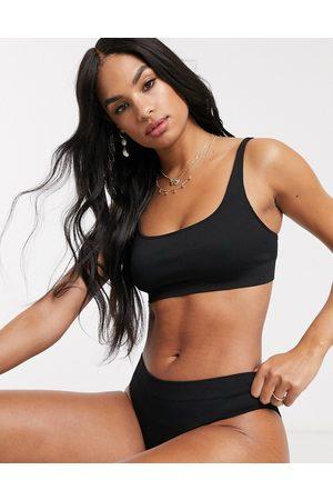 Weekday Mujer Sin varillas - Cat soft bra in black