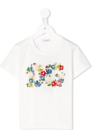 Dolce & Gabbana Playeras - Floral print logo T-shirt