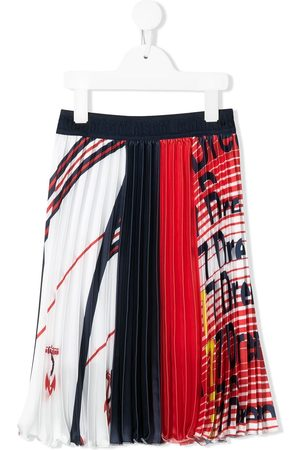 Msgm Pleated satin skirt