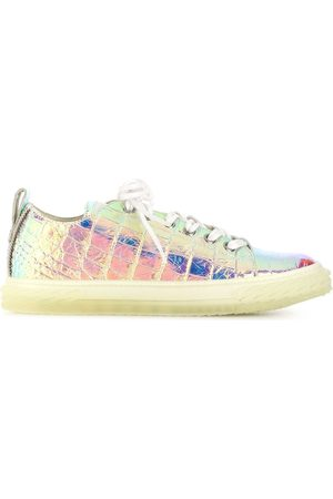 Giuseppe Zanotti Crocodile-effect low top trainers