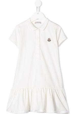 Moncler Vestido estilo playera tipo polo con parche del logo