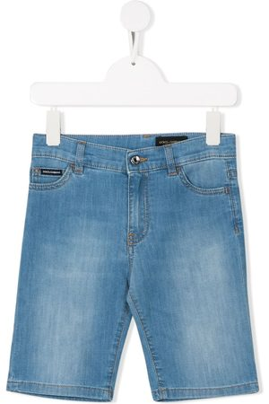 Dolce & Gabbana Logo patch denim shorts