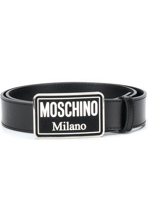 Moschino Hombre Cinturones - Cinturón con hebilla esmaltada