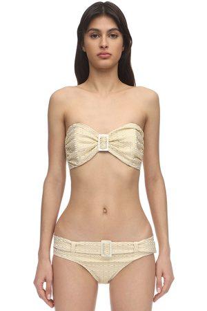 Lisa Marie Fernandez Bikini Bandeau De Seersucker