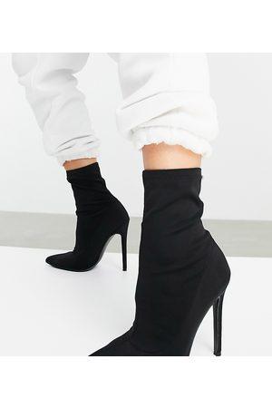 ASOS Esmerelda high heeled sock boots in black